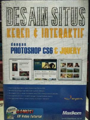 Desain situs keren & interaktif dengan photoshop cs6 & Jquery